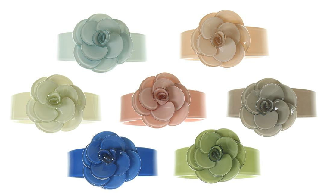 BIG BABY Slim Rose Cuff Bangle/Bracelet - Colour Set 2