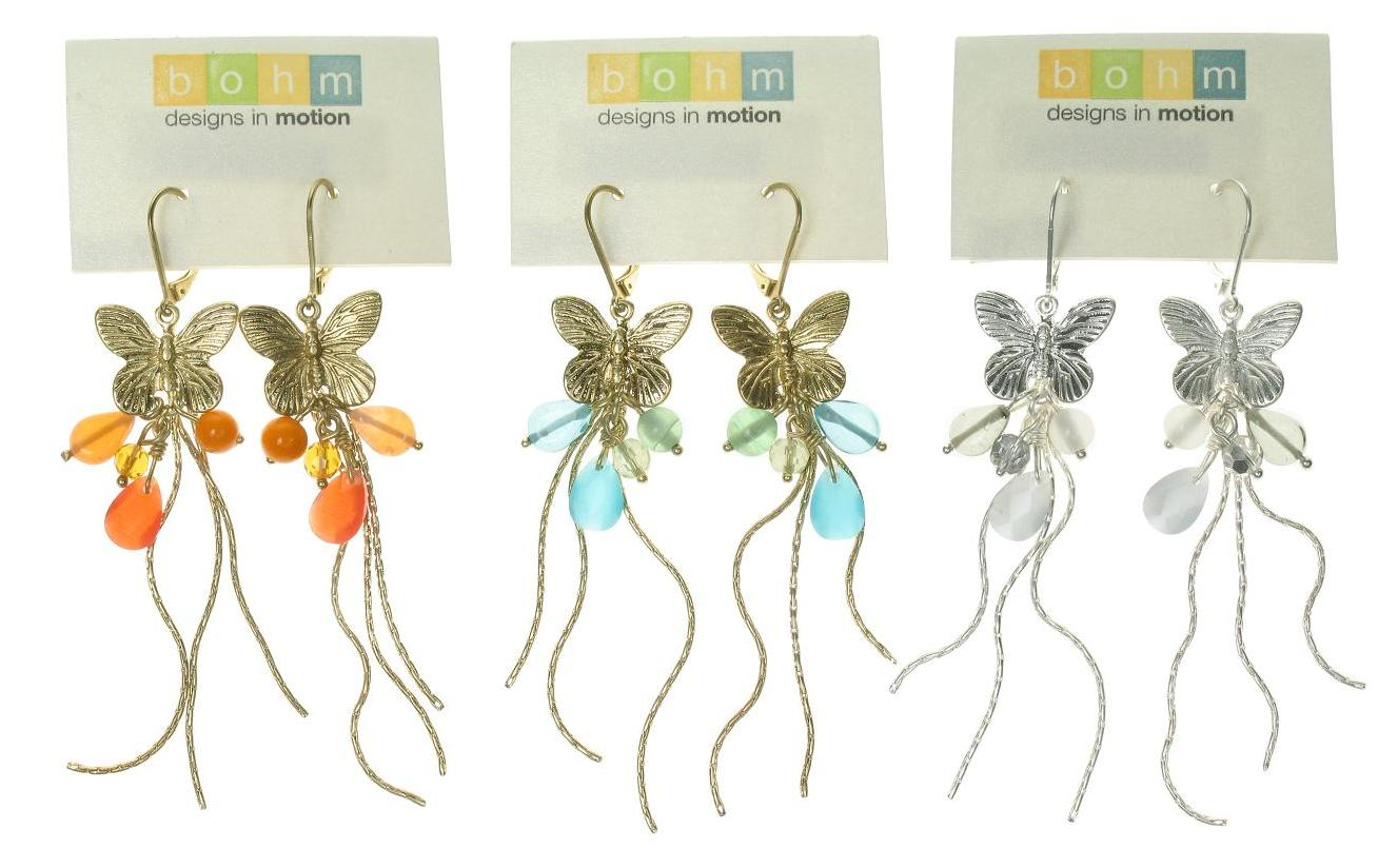 Bohm Butterfly Society Charm Cascade Earrings