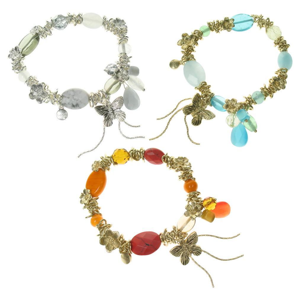 Bohm Butterfly Society Charm Cascade Stretch Bracelet