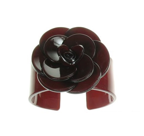 Wide Rose Chocolate Brown Cuff - BIG BABY Bangle