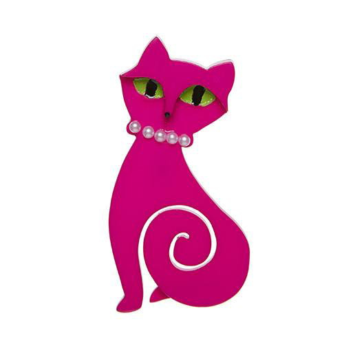 Meow at Midnight - Erstwilder Cat Brooch