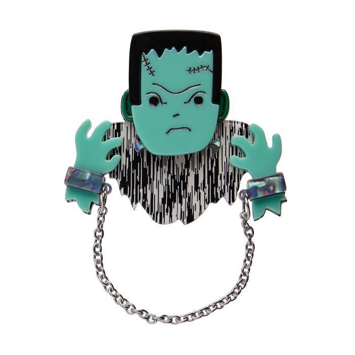 A Boy Named Borris - Erstwilder Frankenstein's Monster Brooch