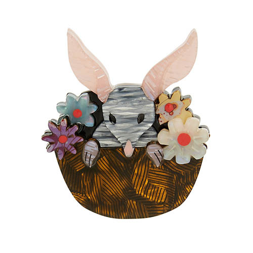 Basket of Bilby - Erstwilder Flower Basket Bilby Brooch