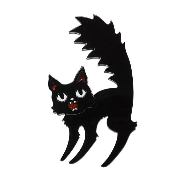 Catastrophic Fright - Erstwilder Black Cat Brooch