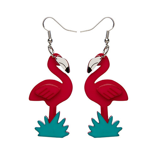 Flamboyant Flamingo Fair - Erstwilder Earrings
