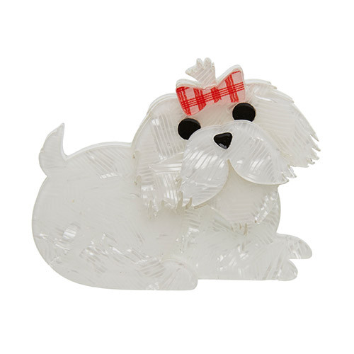 Molly the Maltese - Erstwilder Dog Brooch