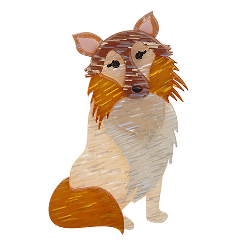 Precocious Pixie - Erstwilder Collie Dog Brooch