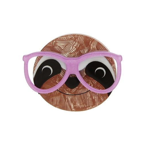 Sammy the Smart Sloth - Erstwilder Brooch