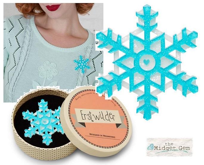 Seasonal Symmetry - Erstwilder Snowflake Brooch
