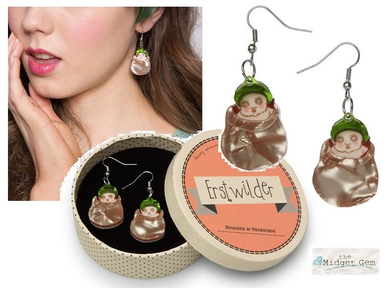 Snugglepot - Erstwilder May Gibbs Earrings