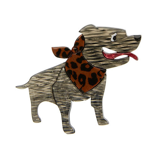 Staffy Stan - Erstwilder Dog Brooch
