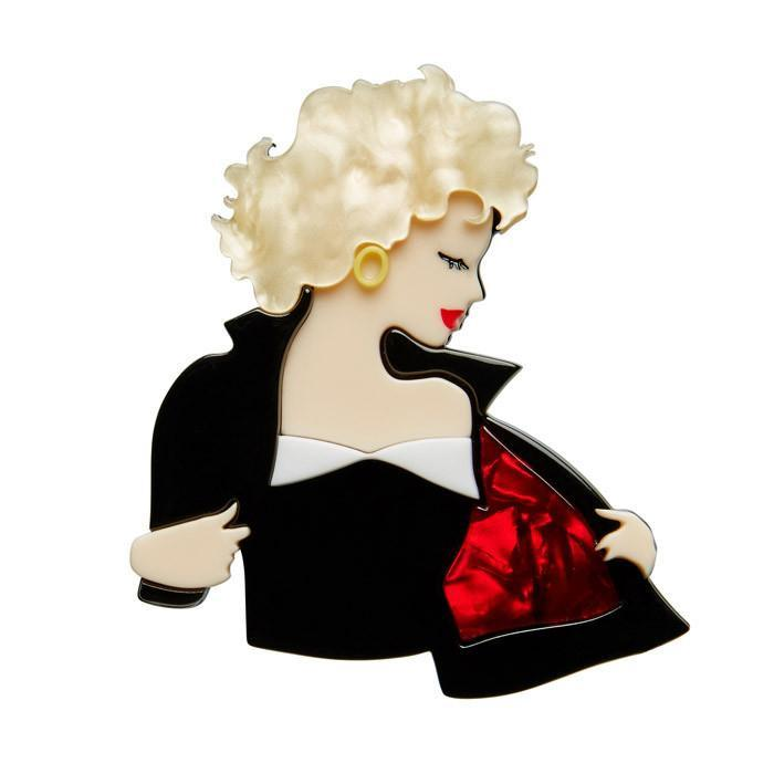 Tell Me About it Stud - Erstwilder GREASE Brooch