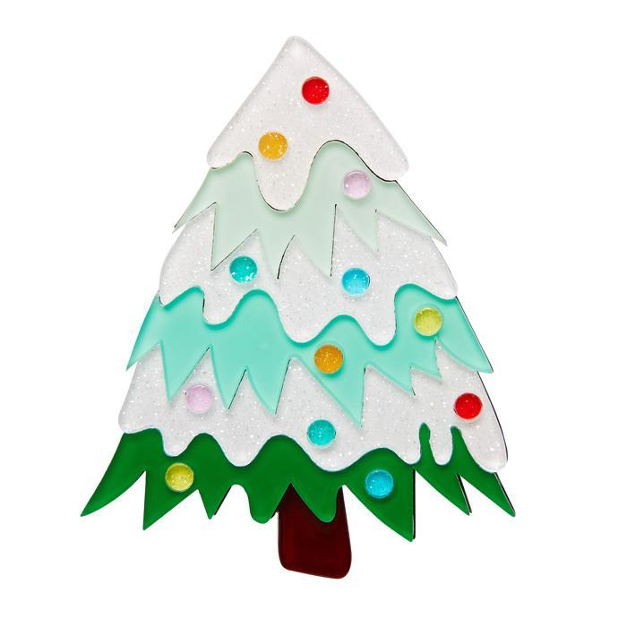 To Be Jolly - Erstwilder Christmas Tree Brooch