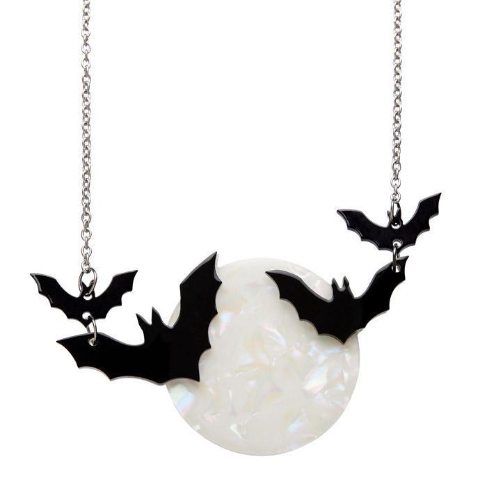 Trick or Treat - Erstwilder Bats & Full-Moon Necklace