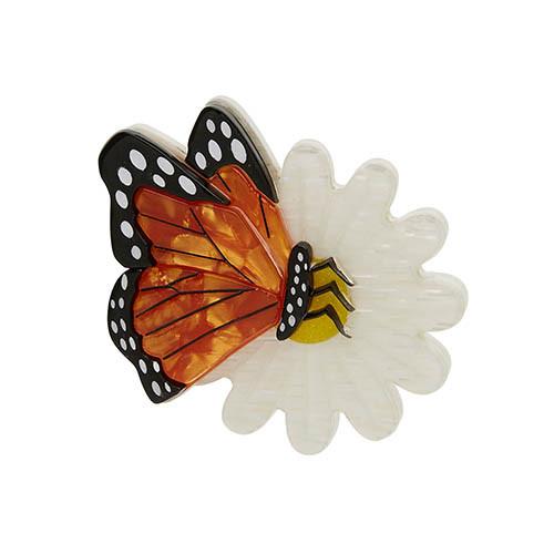 Wander Lust - Erstwilder Butterfly & Flower Brooch