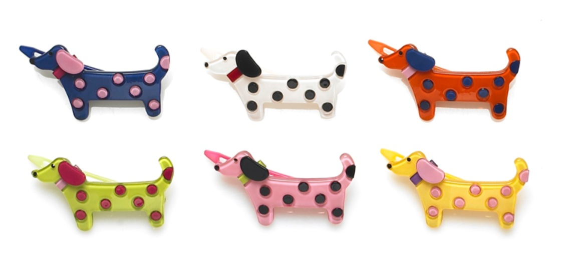 BIG BABY Spotty Dog Hair Clip/Slide