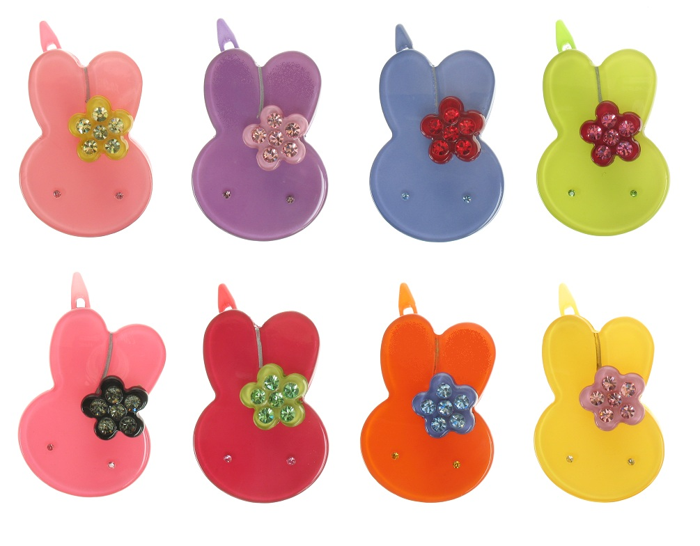 BIG BABY Little Rabbit With Flower Hair Slide/Clip - Colour Set 1