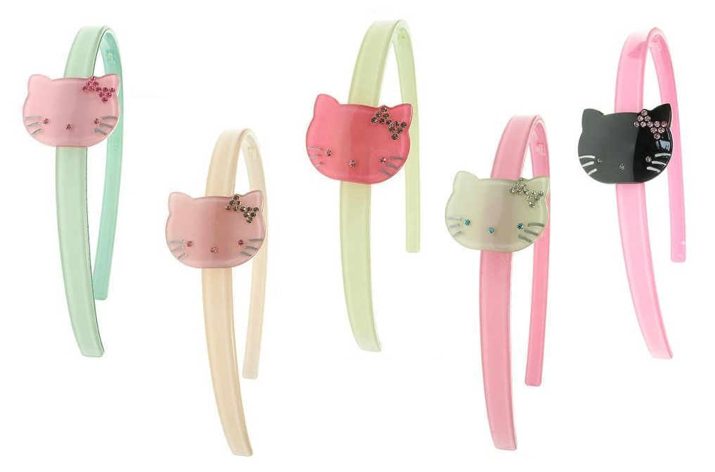 BIG BABY Kitty Cat Hair/Head Band - Colour Set 2