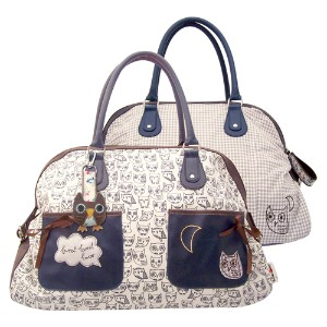 Sugar Coated Owl Themed Over-Night Bag/Hold-All By Disaster Designs