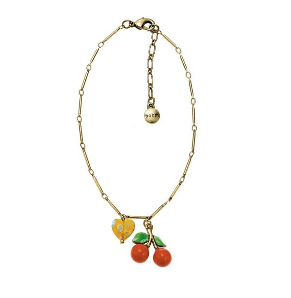 The Bohm Fruity Fruit Cherry Ankle Chain