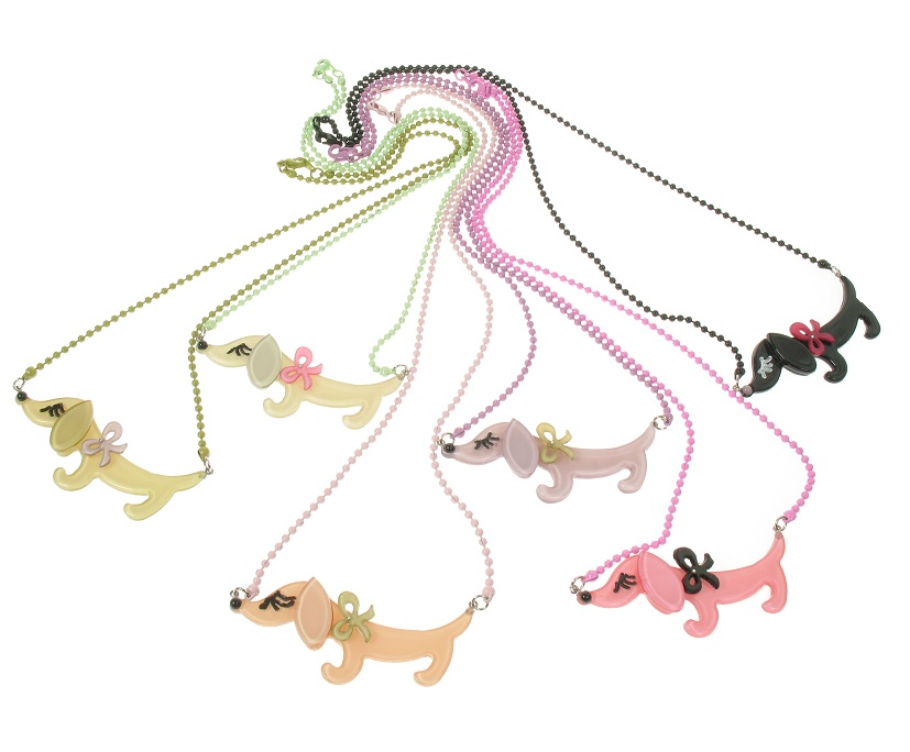 BIG BABY Sausage Dachshund Dog Necklace - Colour Set 1