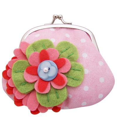 'Beautiful Day' Pastel Flower Clip Purse By Disaster Designs