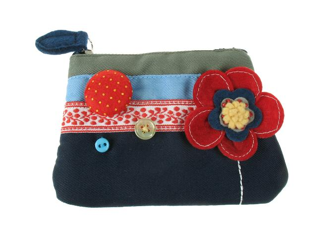 'Beautiful Day' Red Poppy Flower Zip Purse By Disaster Designs