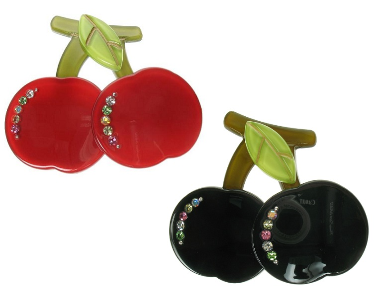 BIG BABY Pair of Cherries/Cherry Brooch/Pin