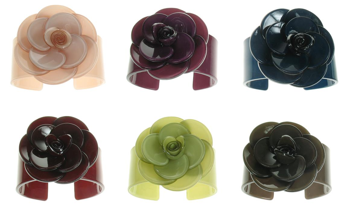 BIG BABY Wide Rose Cuff/Bangle - Colour Set 2