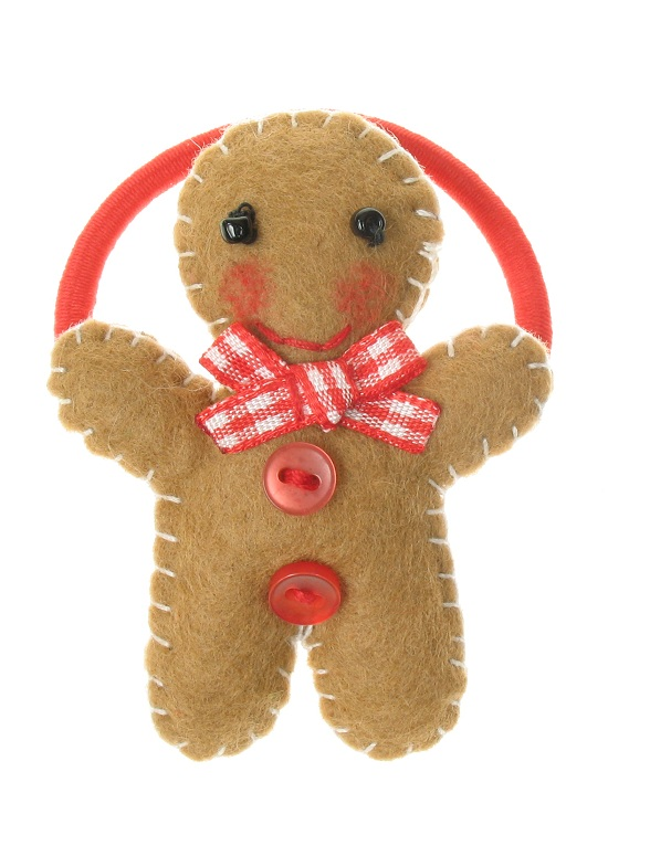 BOBBLELICIOUS Gingerbread Man Hair Elastic