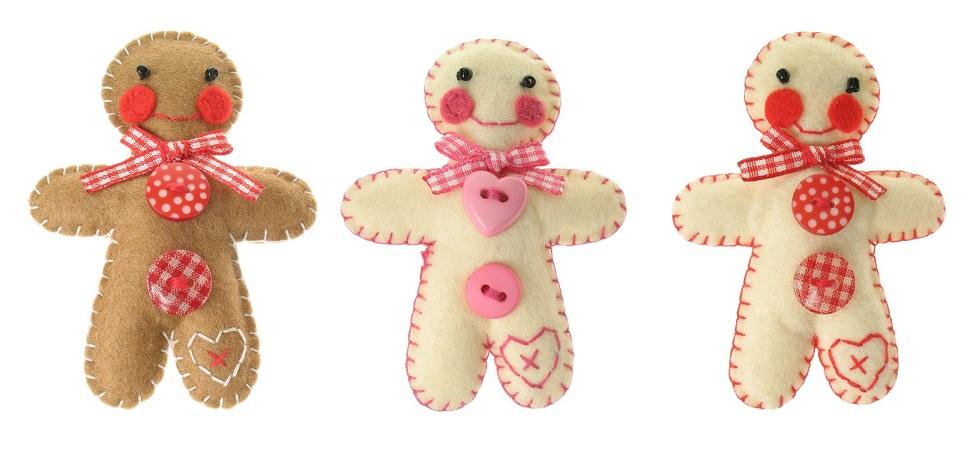 BOBBLELICIOUS Gingerbread Man Brooch/Pin