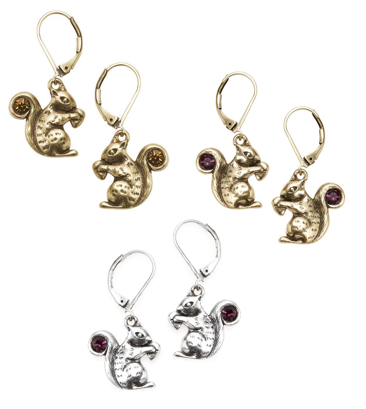 Bohm Autumn Woodland Squirrel Earrings