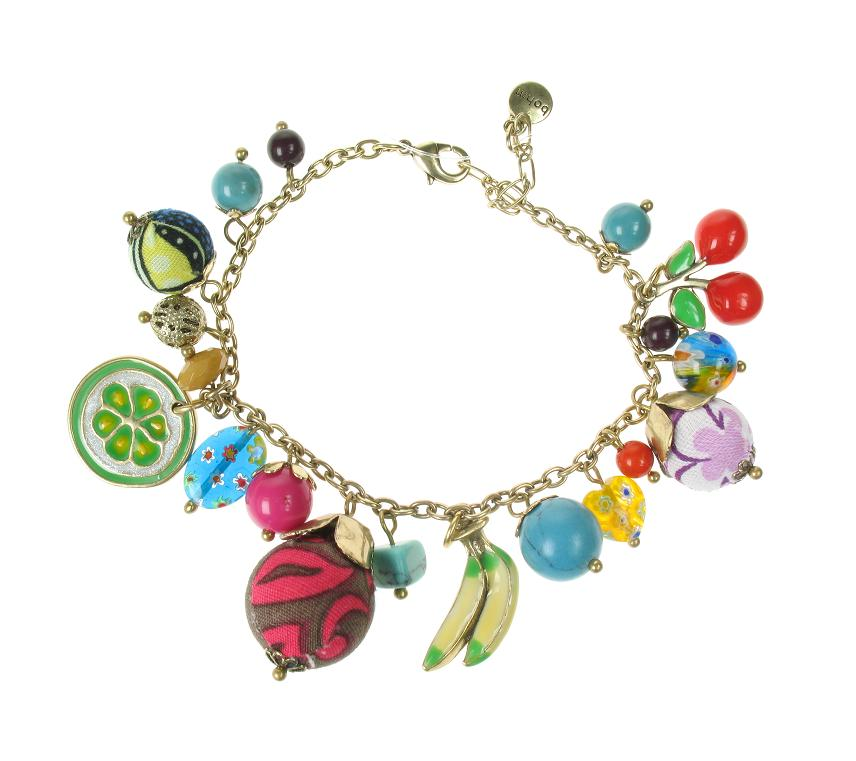 The Bohm Fruity Fruit Adjustable Charm Bracelet