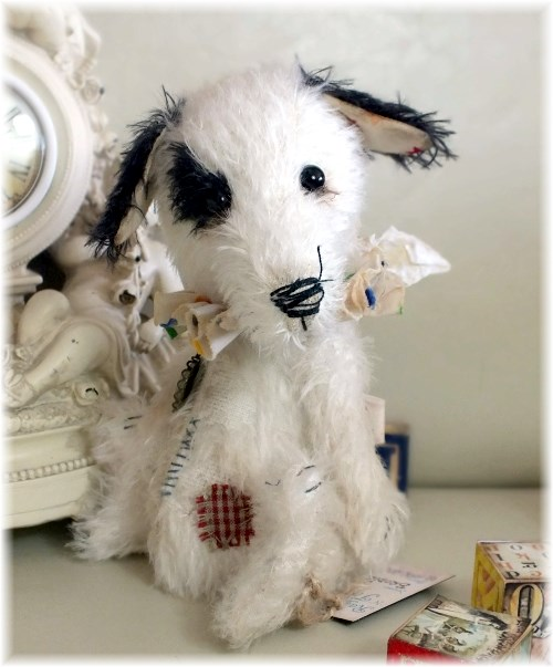 Brodie - White/Black Sad Victorian Circus Jack Russell Dog - ADOPTED
