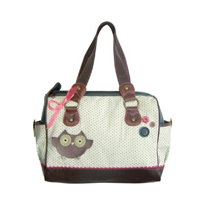 It's Darling Polka Dot Owl Hand Bag By Disaster Designs