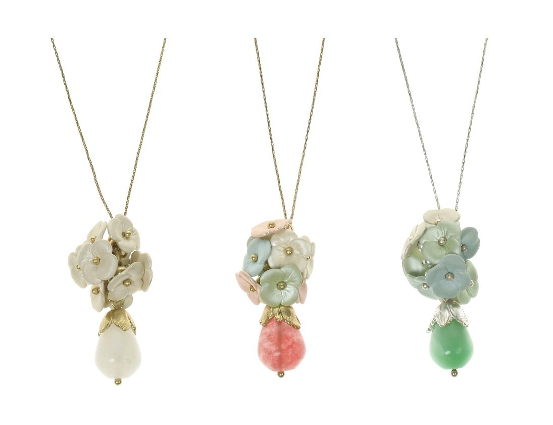 Bohm Flourescence Flower Cluster Pendant Necklace