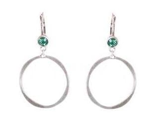 A & C Hoop & Swarovski Crystal Earrings