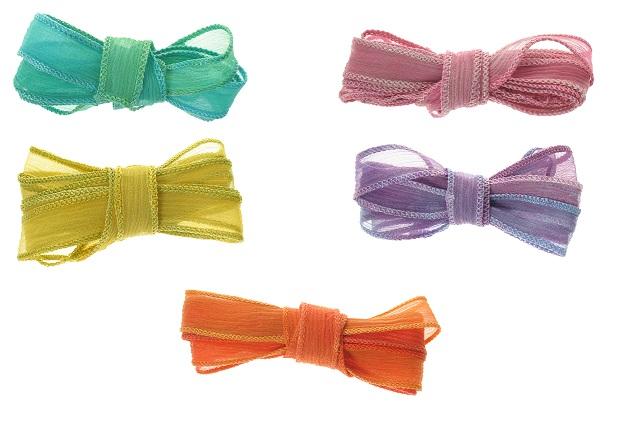 Bound Crinkle Chiffon Ribbon - Vibrant