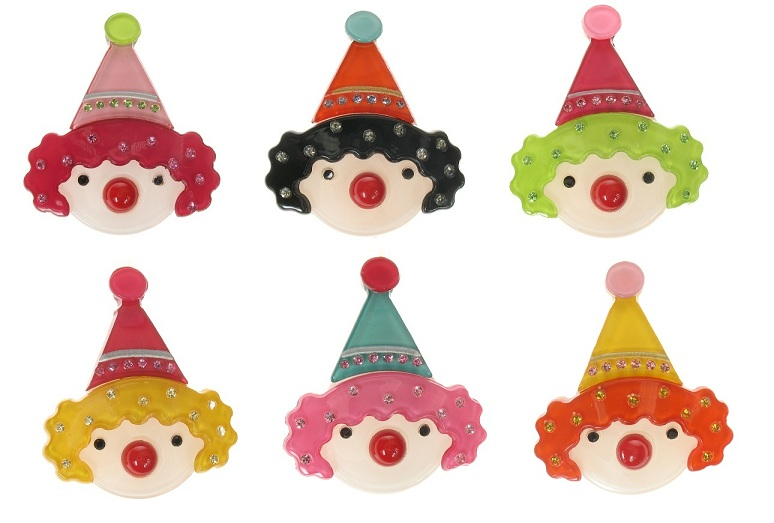 BIG BABY Cute Clown Hair Slide/Clip