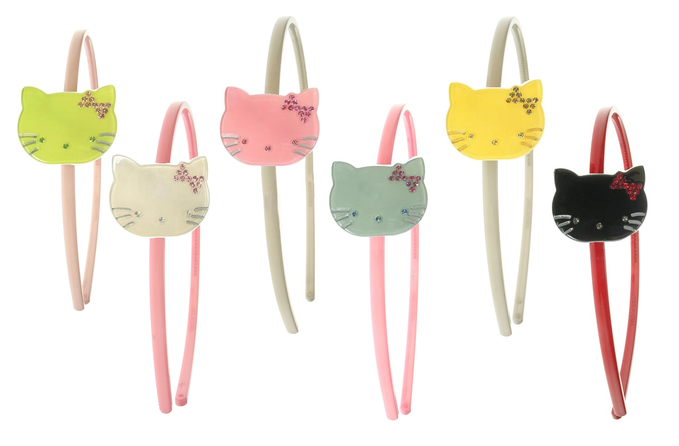 BIG BABY Kitty Cat Hair/Head Band - Colour Set 1