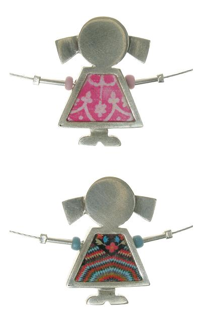NOA Hand Crafted 'Little Girl' Ceramic Tile Necklace