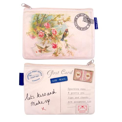 'Kiss & Make Up' Paper Plane Make-Up Bag