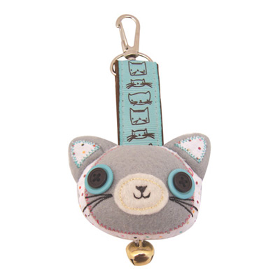 'Sugar Coated' Kitty Cat  Bag Charm