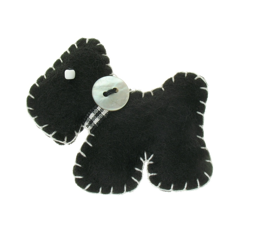 BOBBLELICIOUS Scottie/Scotty Dog Brooch/Pin