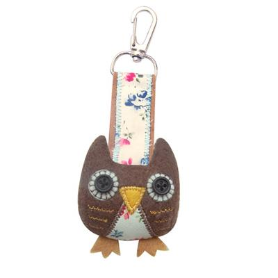 'Sugar Coated' Button Eye Owl Bag Charm