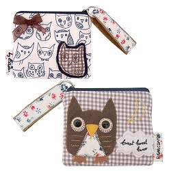 'Sugar Coated' Button Eye Owl Zip Purse By Disaster Designs