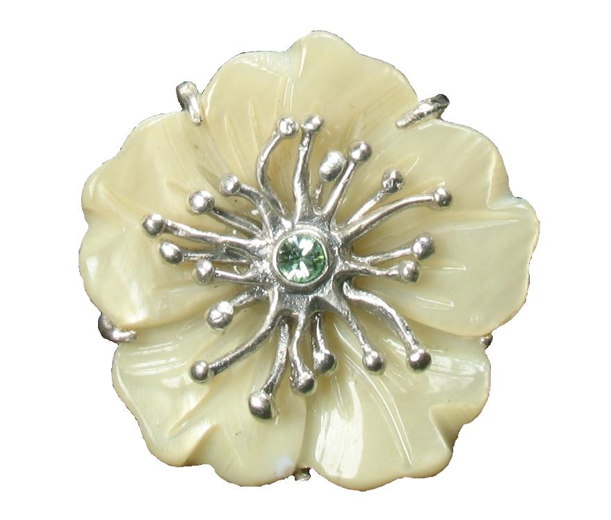 Bohm Floral Couture MOP Flower Ring