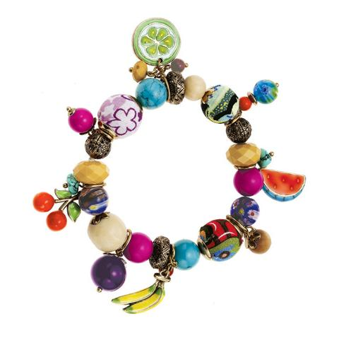 The Bohm Fruity Fruit Stretch Charm Bracelet