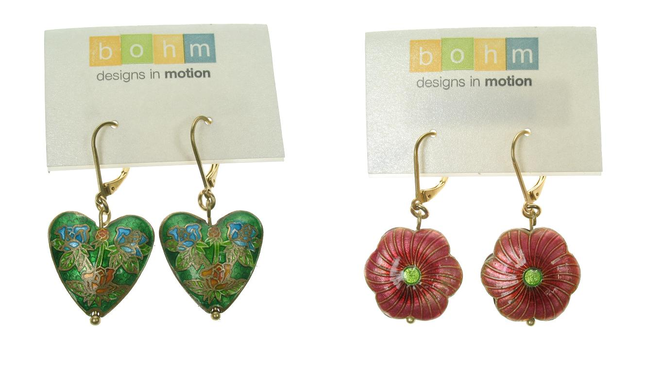 Bohm Summertime Jamboree Cloisonné Earrings