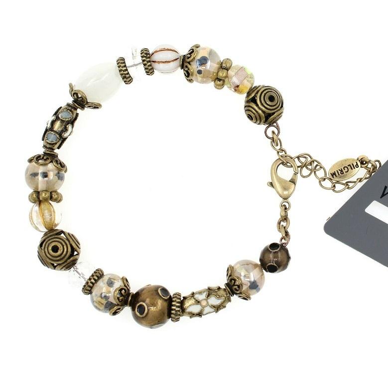 PILGRIM - STARS - Wired Bracelet - Gold Plate/White Opal Swarovski BNWT
